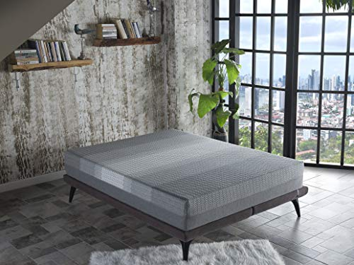 "ISTIKBAL SLEEPist Collection X Silence 11"" Gel Memory Foam Mattress Medium Feel (Mattress Only) Bed Mattress in A Box (King)"