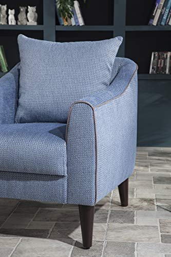 BELLONA Trendy Home Furniture Living Room Accent Chair Brookline Collection (Blue (422))