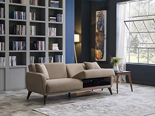 BELLONA Functional Sofa in A Box (Taupe)