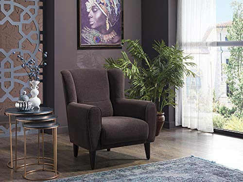 BELLONA Trendy Home Furniture Living Room Accent Chair Bolton Collection (Khaki)