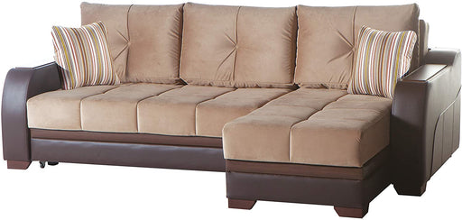 BELLONA Ultra Sleeper Sectional Sofa (Lilyum Vizon)