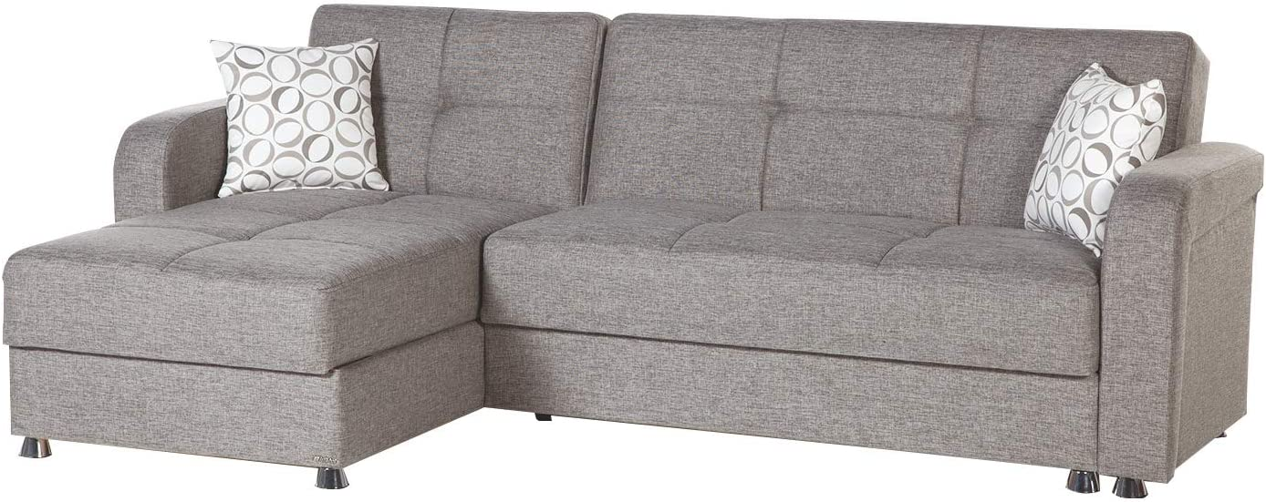 Istikbal Multifunctional Furniture Living Room Set Vision Collection (Grey, Sectional)