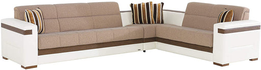 BELLONA Moon Sleeper Sectional Sofa (Sectional, Platin Mustard)