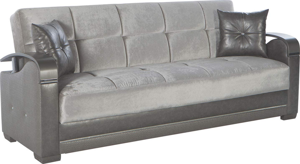 Bellona Convertible Sofa Bed Luna Collection (Deha Silver, Sofa)