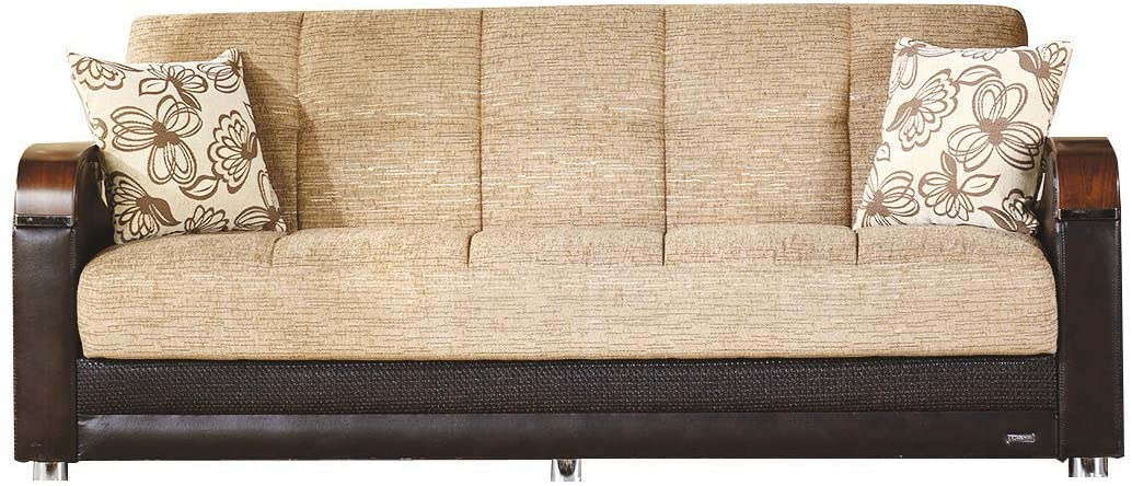 Bellona Luna Collection Convertible Sofa Bed (Fulya Brown, Sofa)