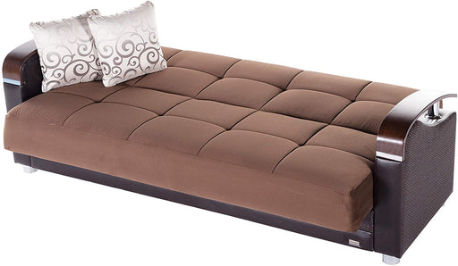 Bellona Luna Convertible sofa bed with storage (Naomi Brown, Sofa)