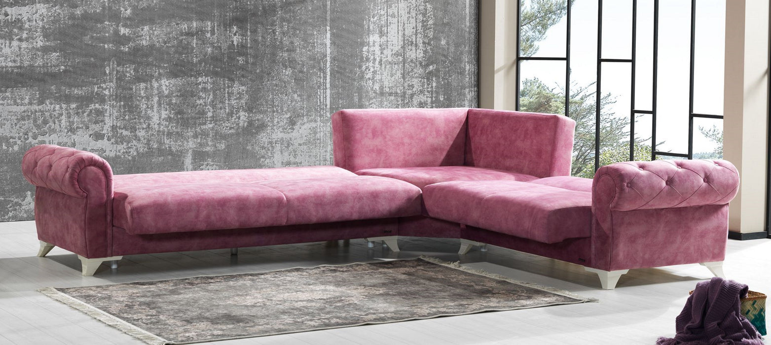 Milda Multifunctional Sectional sofa (Pink).