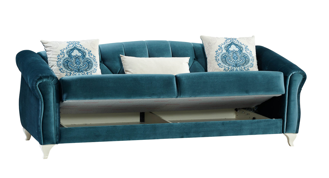 Melise Convertible Sofa Sleeper Bed (Zero Green).