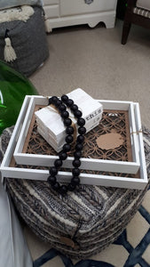 Black Wood Decorative Beads