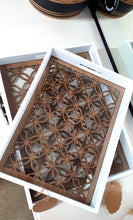 Load image into Gallery viewer, Decorative Nesting Trays with glass inserts(Set of 2)