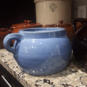 Vintage Medalta Pottery Bean Pot without Lid, Circa 1930  #2 - Blue