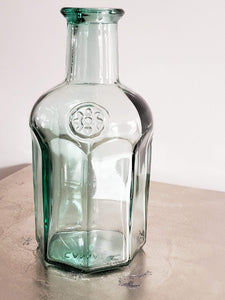 Vintage Blue Glass Bottle
