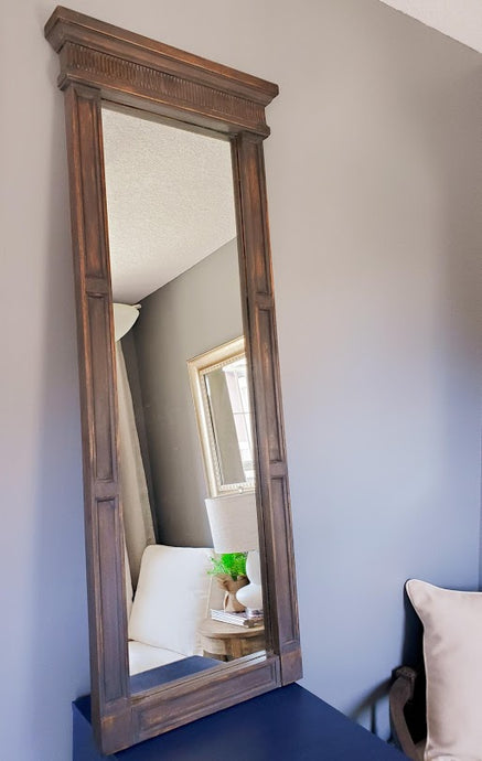 Refinished Vintage Trumeau Mirror