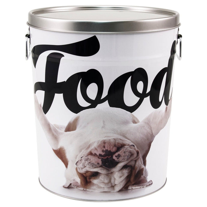 Paw Prints Tin Pet Food Container