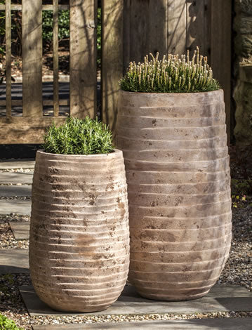 Tall Ipanema Planter-Terra Cotta Antico-S/2