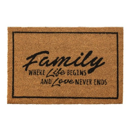 Family Where Life Begins Outdoor Mat