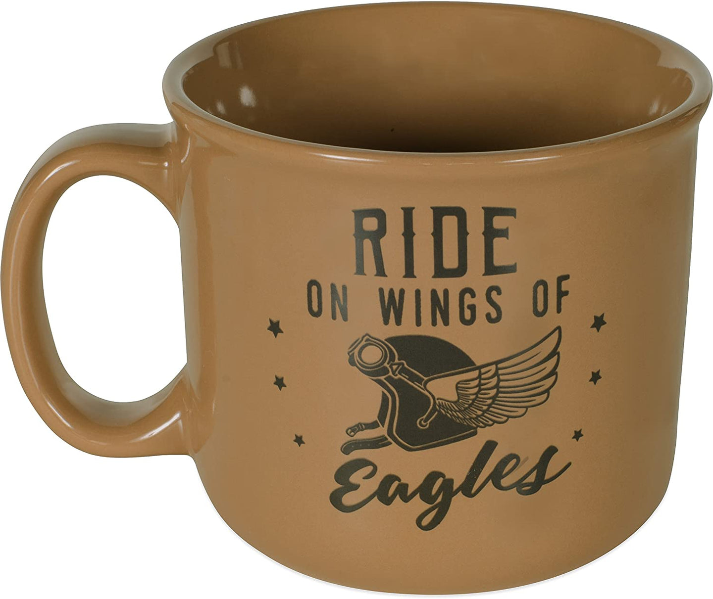 Ride On The Wings of Eagles Stoneware Mug