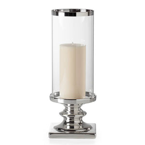"Cino Pedestal 14h"" Hurricane Candle Holder"