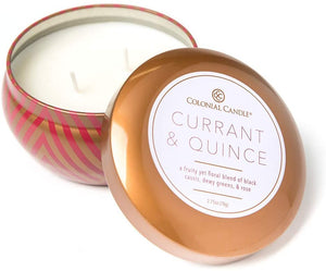 Colonial Candle & Currant Quince 12 oz. Large Tin