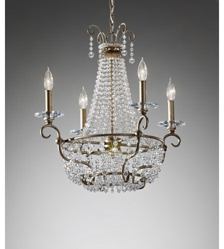 Feiss F2708/6BUS Dutchess 4 Light Burnished Silver Chandelier Ceiling Light