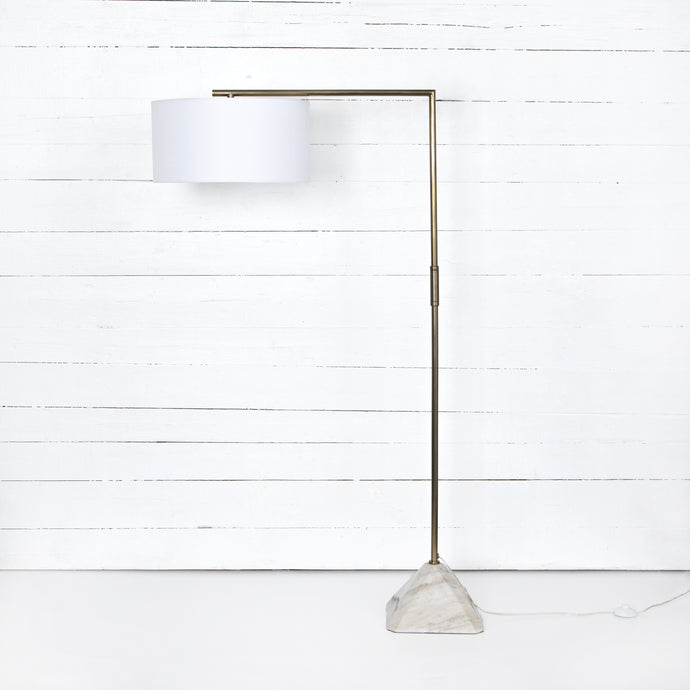 HARTFIELD FLOOR LAMP-PATINA BRASS