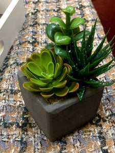 Faux Succulent/Greenery