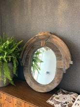 Load image into Gallery viewer, Wood Oval Mirror