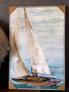Sail Boat Canvas Wall Art