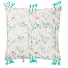 Load image into Gallery viewer, Watercolor Teal and Pink Embroidered Throw Pillow