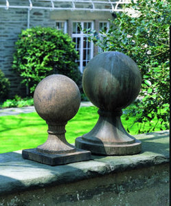 Large Sphere Round Base Finial