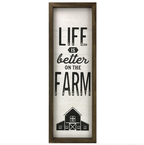 Life is Better on the Farm Wall Art