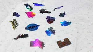 Holographic Heights Stickers
