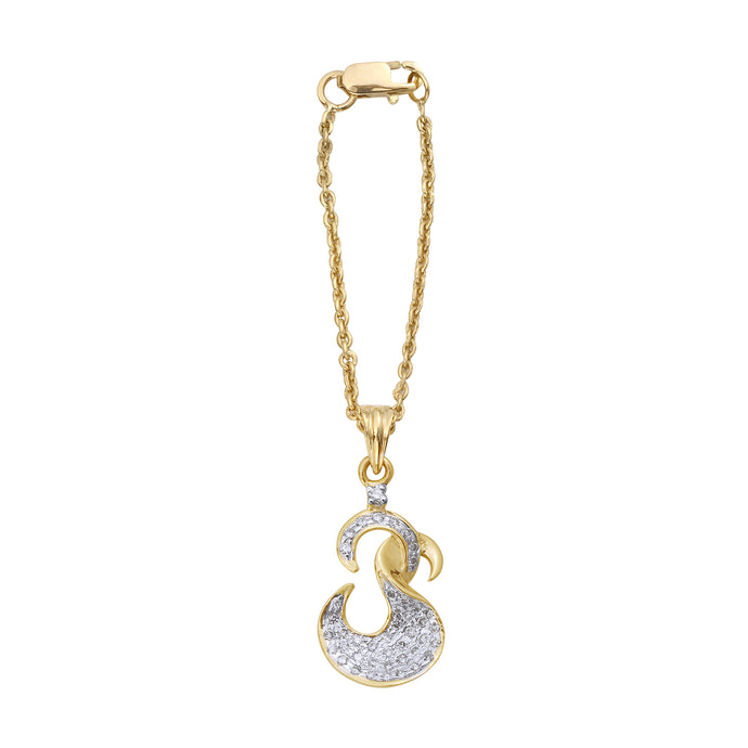 OM Diamond Watch Charm
