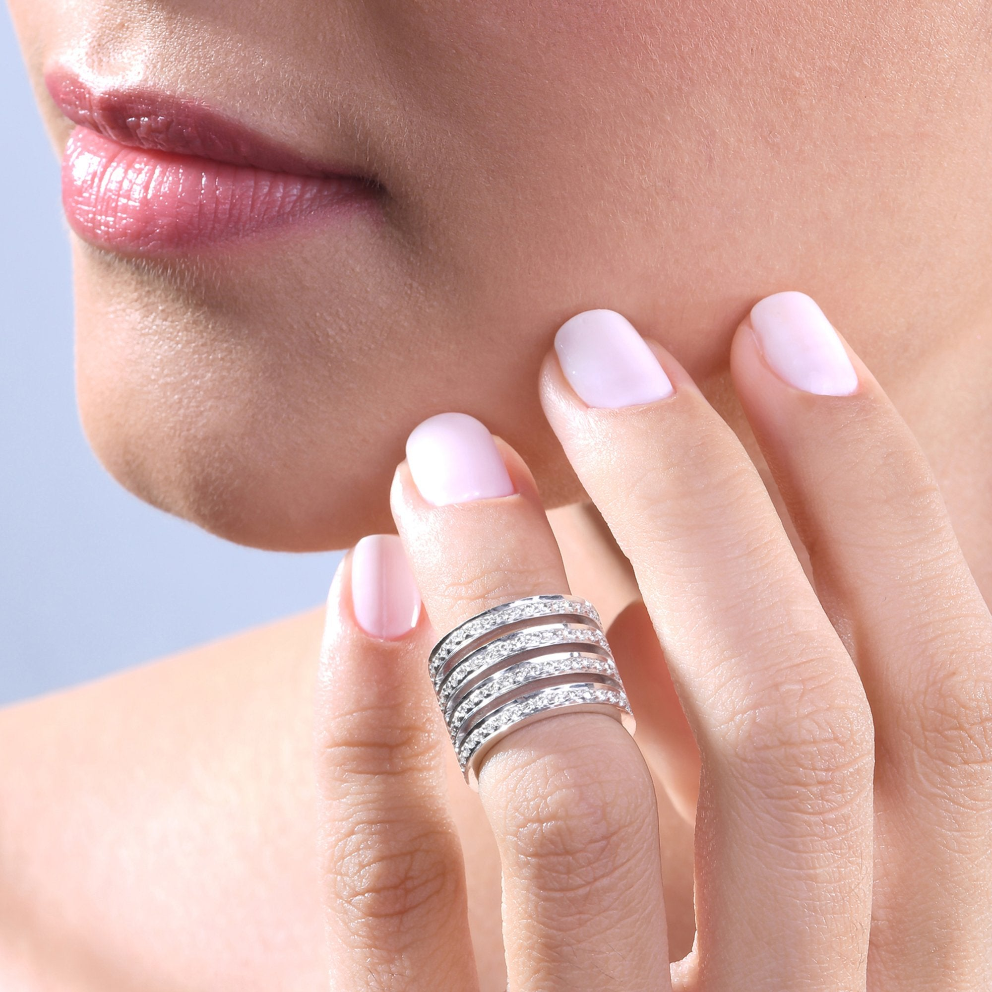 Diamond Stackable Midi Ring