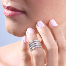 Load image into Gallery viewer, Diamond Stackable Midi Ring