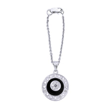 Load image into Gallery viewer, Black Onyx Donut Diamond Watch Charm