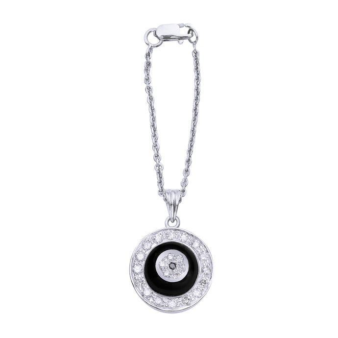 Black Onyx Donut Diamond Watch Charm
