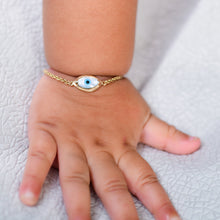 Load image into Gallery viewer, Baby Marquise Evil Eye Chain Bracelet