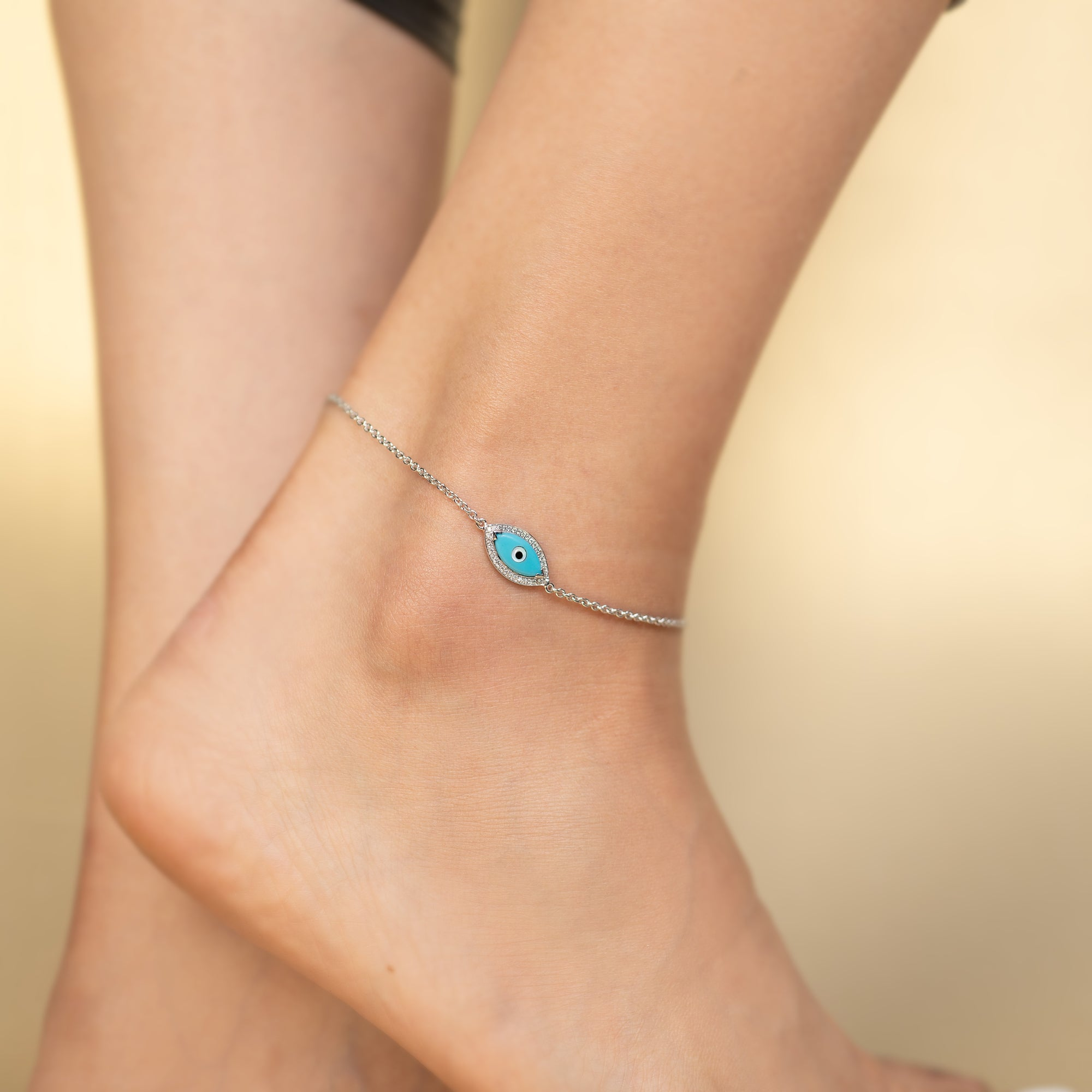 Turquoise Diamond Anklet