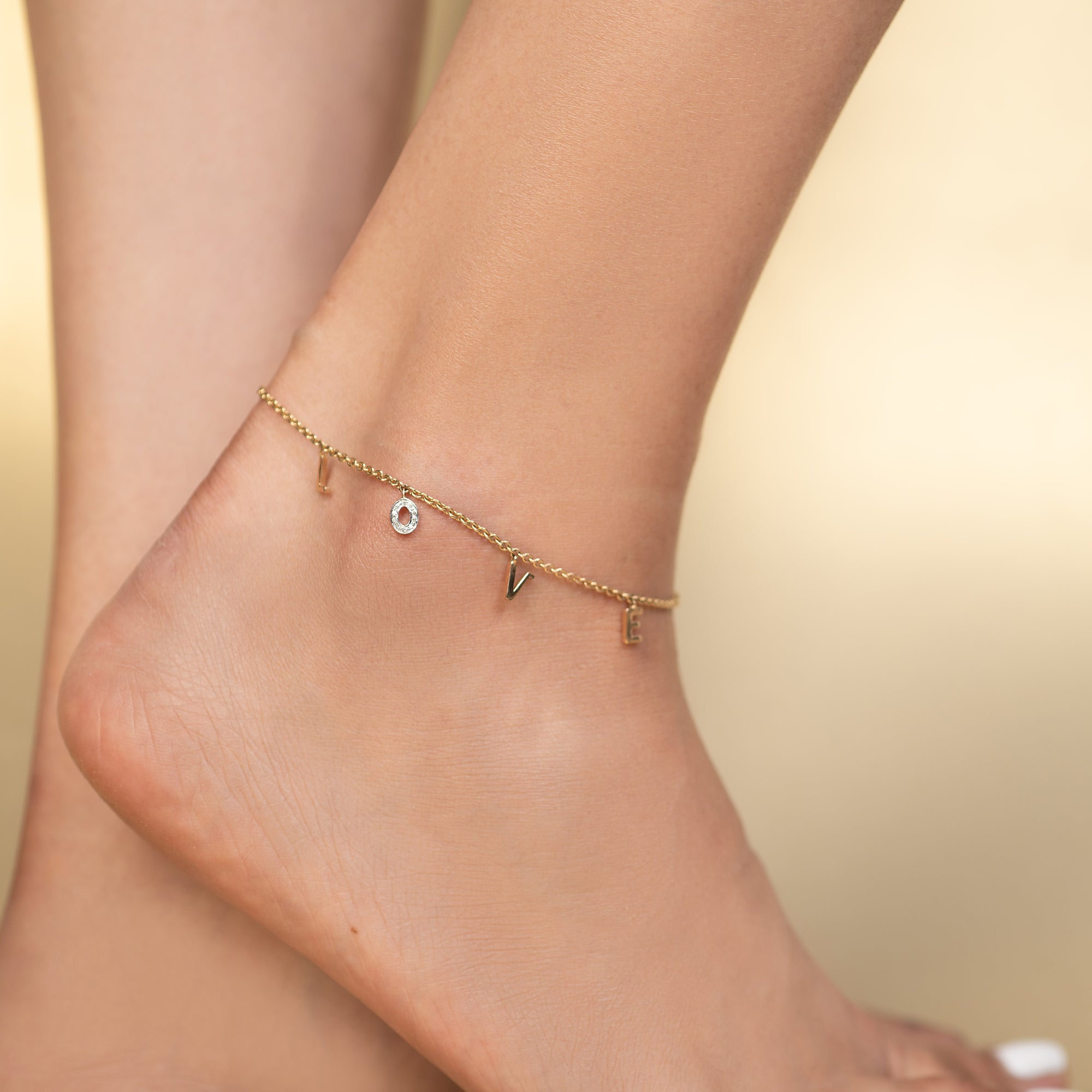 Diamond LOVE Anklet