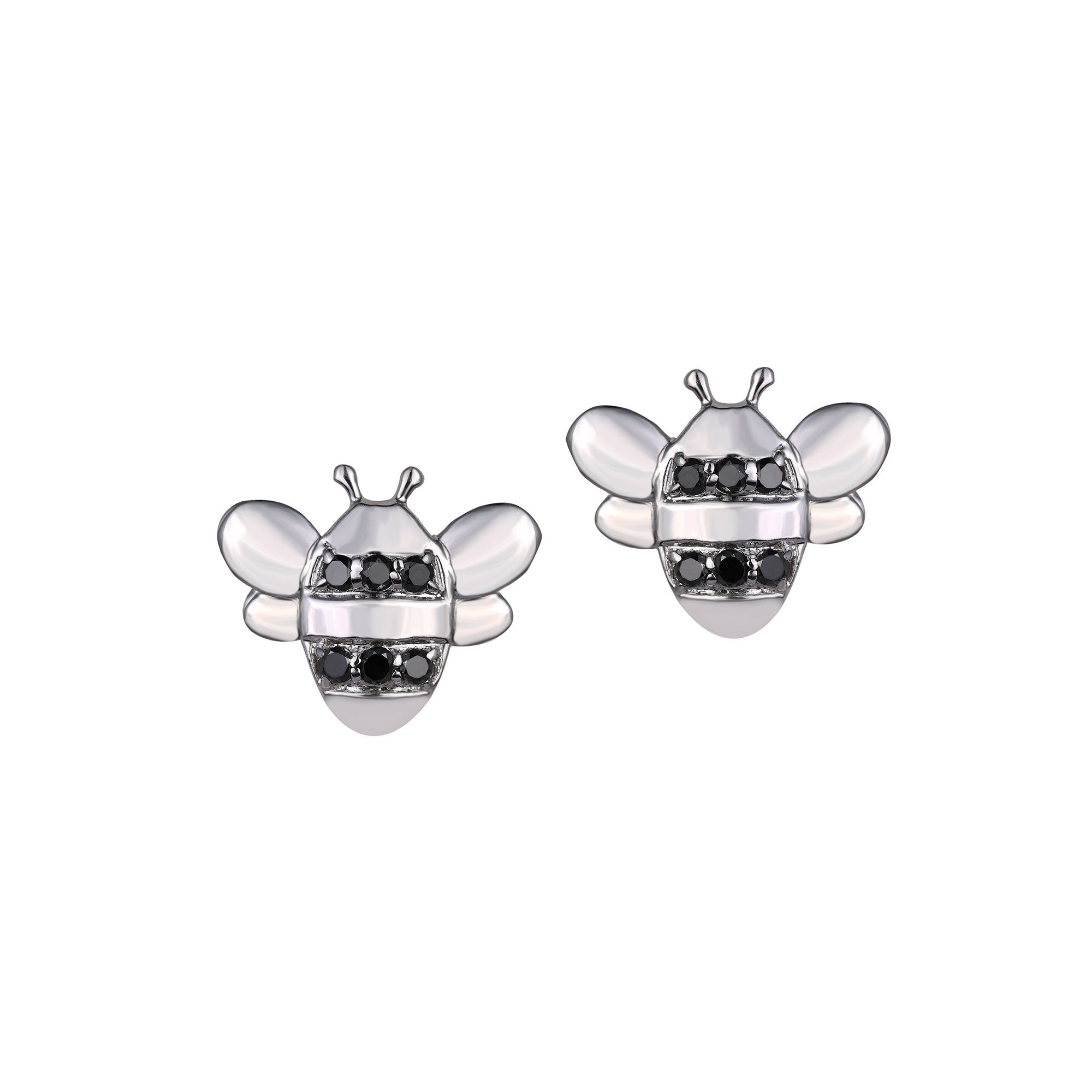 Honey Bee Black Diamond Studs