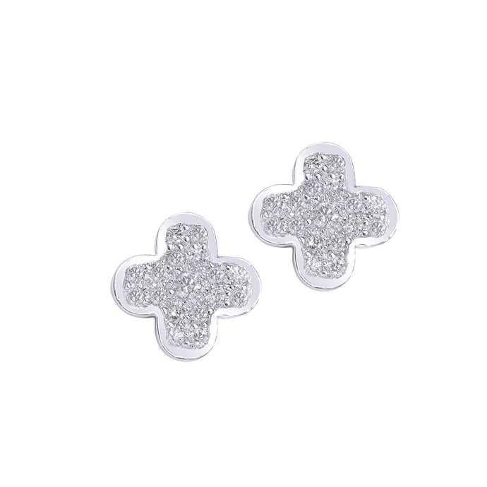 Small Clover Diamond Studs