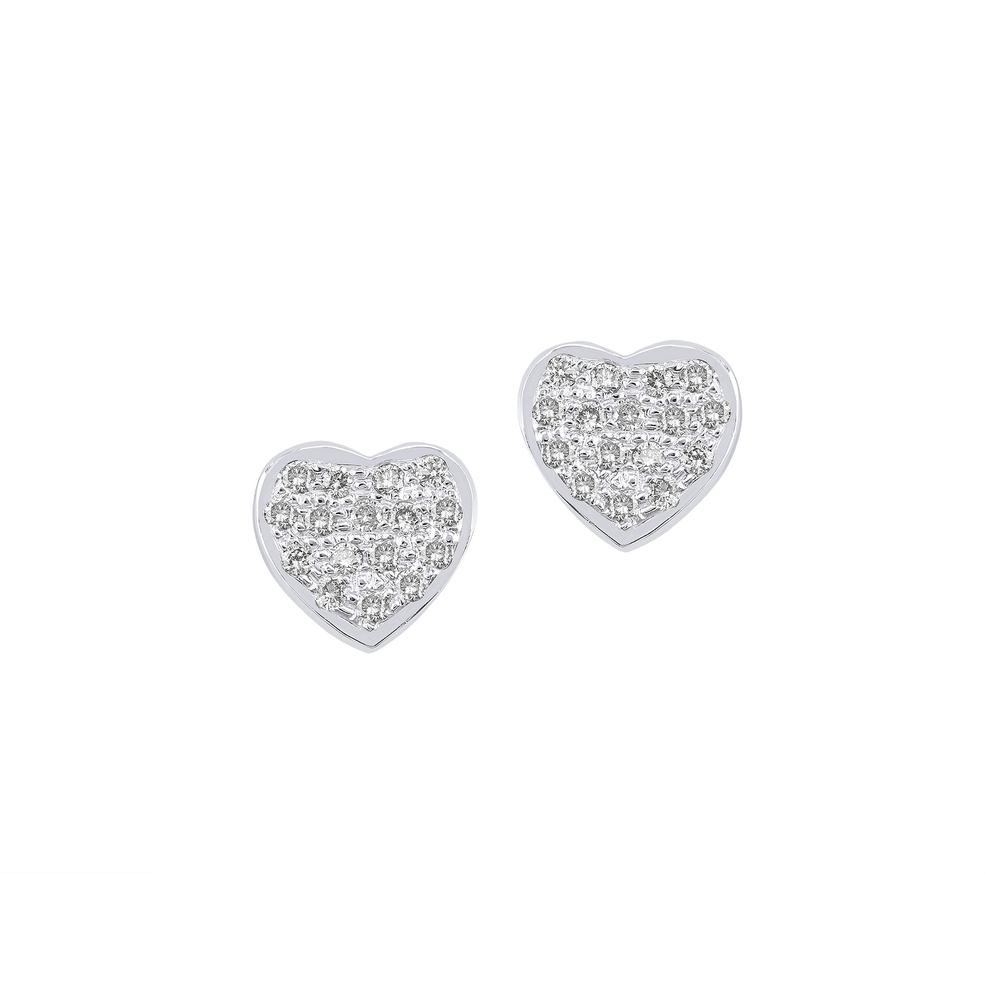Small Heart Diamond Studs