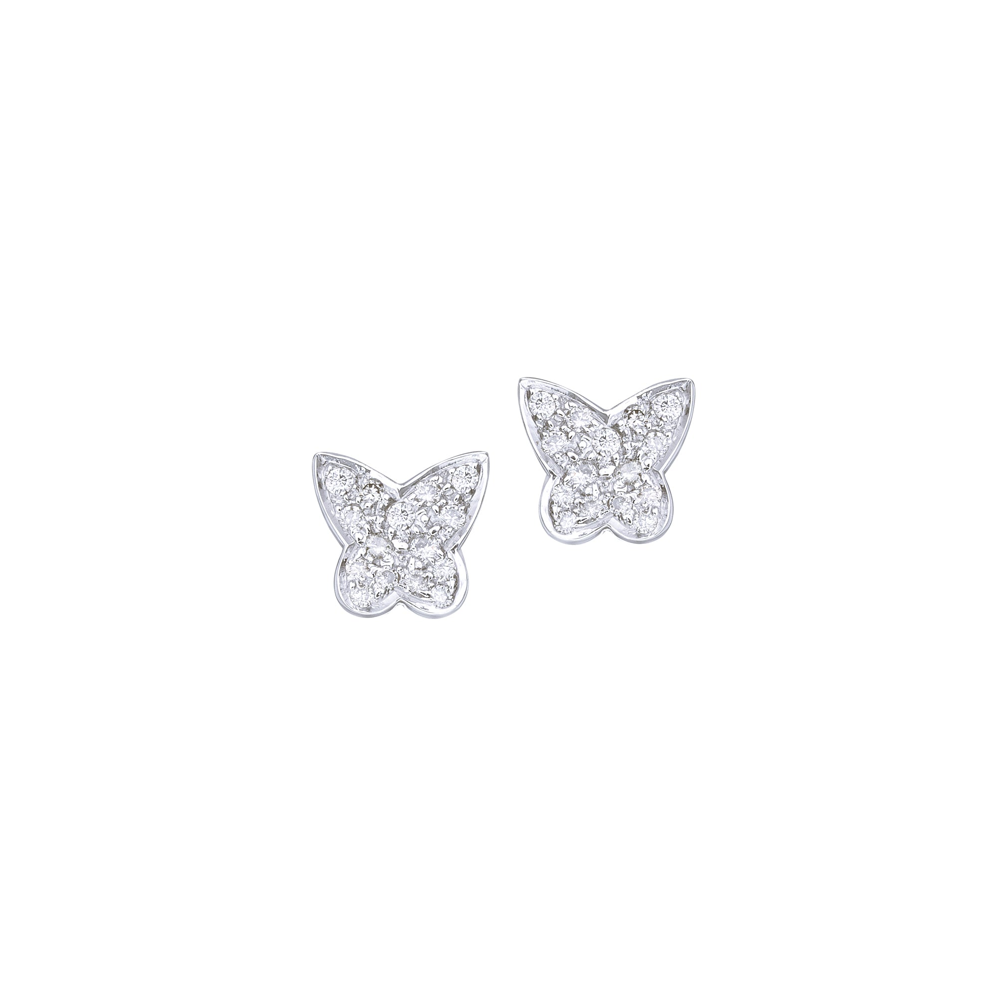 Small Butterfly Diamond Studs
