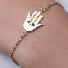 Load image into Gallery viewer, Hamsa Hand Chain Bracelet