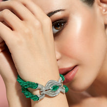 Load image into Gallery viewer, Emerald and Diamond Bracelet