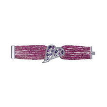 Load image into Gallery viewer, Pink Sapphire and Amethyst Bracelet