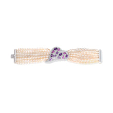 Load image into Gallery viewer, Pink Sapphire, Amethyst and Pearl Bracelet