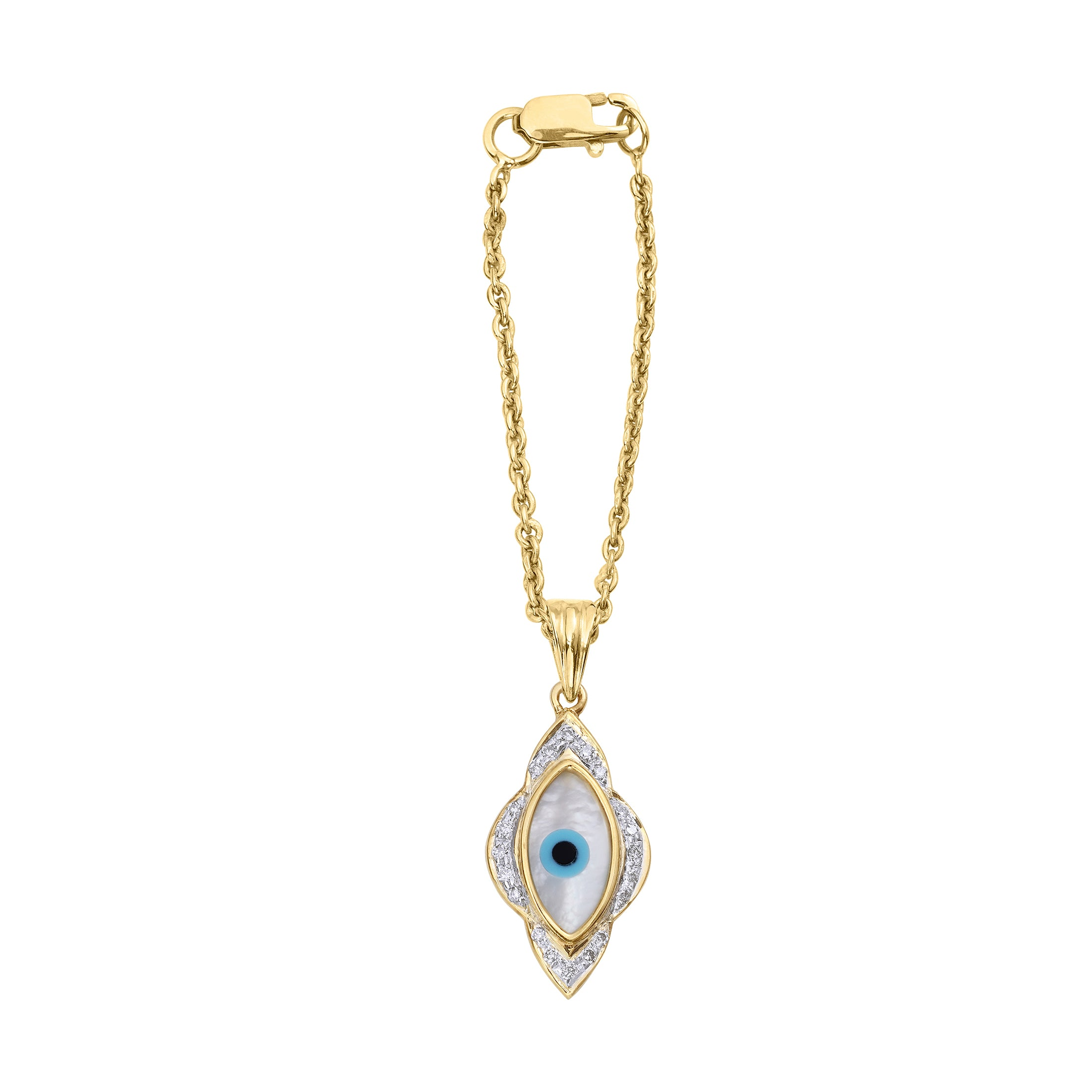 Small Marquise Evil Eye Diamond Watch Charm