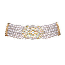 Load image into Gallery viewer, Uncut Diamond and Pearl Choker